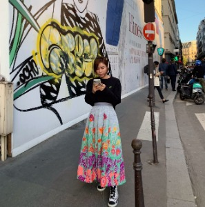 AAV X MALHIA KENT Flower Artwork Skirt