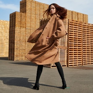 Harris Tweed Brown Coat