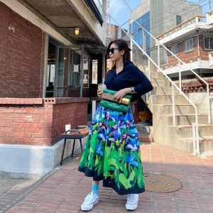 AAV X Ratti Oil Painting Skirt