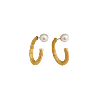 AAV X W.SEN two-way hoop earring
